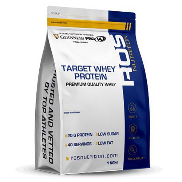 ROS Nutrition Target Whey Protein - 1kg, Chocolate