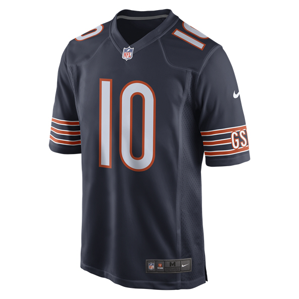 Nike NFL Bears Trubiskey Home Jers Navy