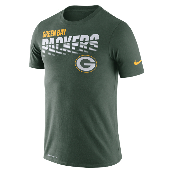 Nike NFL Packers Scrimmage Line T-Shirt Green