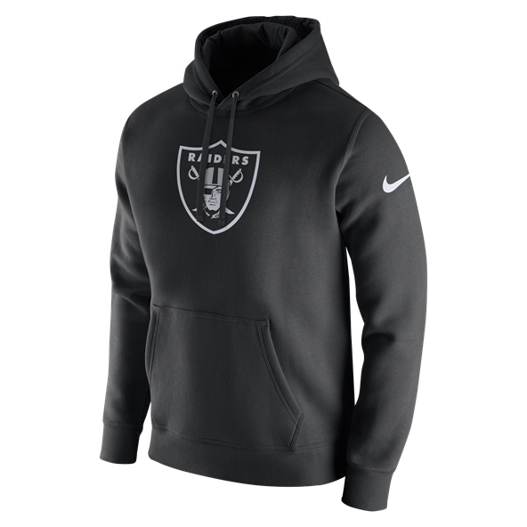 Nike NFL Raiders PO Logo Hoody Black/White