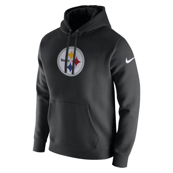 Nike NFL Steelers PO Logo Hoody Black/White