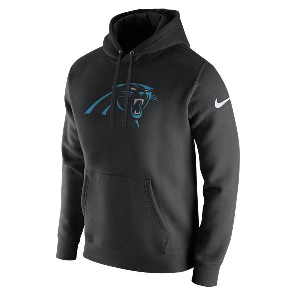 Nike NFL Panthers PO Logo Hoody Black/White