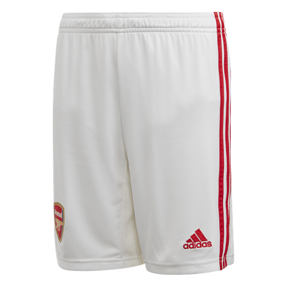 adidas Arsenal 2019/20 Kids' Home Short, White