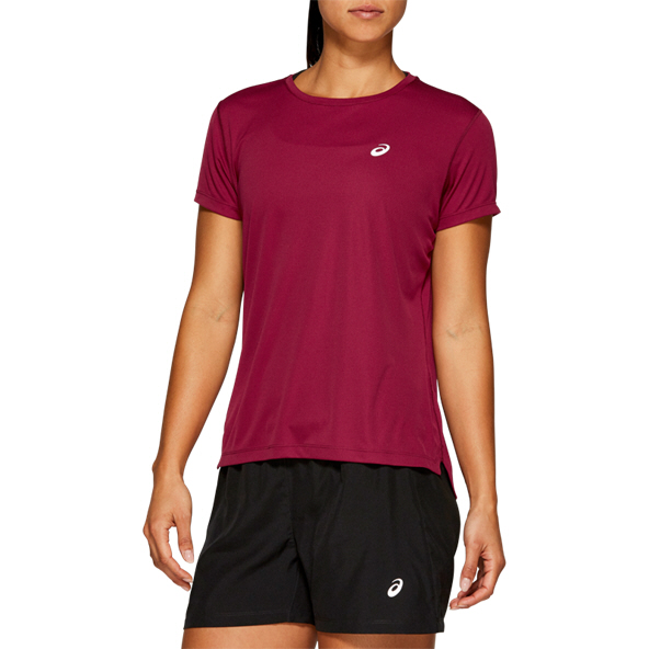 Asics Silver Short Sleeve Women's Top Red