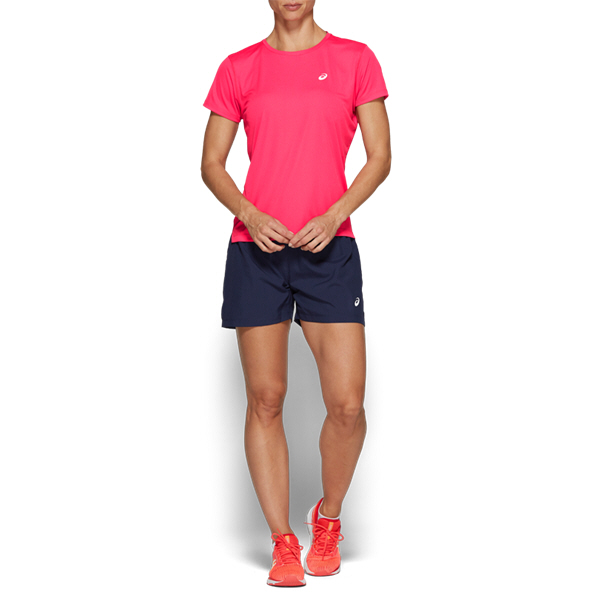 Asics Silver Short Sleeve Women's Top Pink