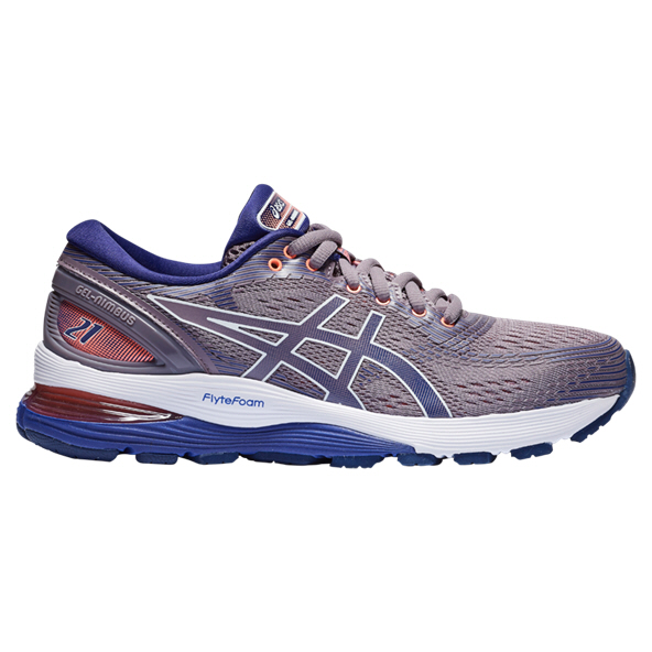 Asics Gel-Nimbus 21 Women's Running Shoe, Grey
