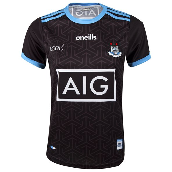 O'Neills Dublin Alternate 2019 Girls' LGFA Jersey, Black