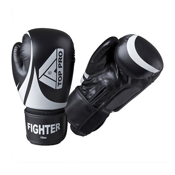 Top Pro Pro-Fighter Boxing Gloves, Black