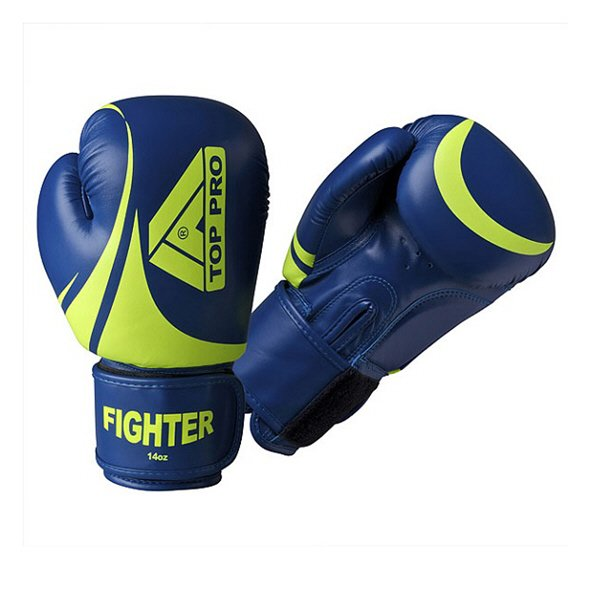 Top Pro Pro-Fighter Boxing Gloves, Blue