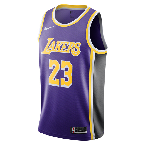 Nike LA Lakers Alternative Jersey - James 23, Purple