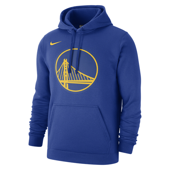 Nike Warriors Logo Hoody Blue