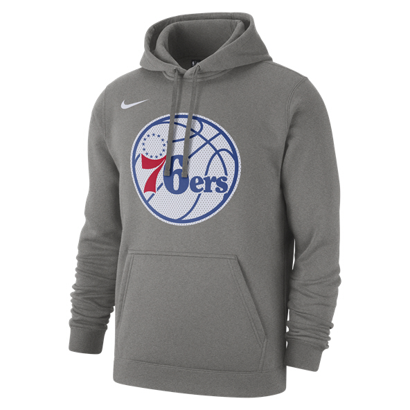 Nike 76ers PO Logo Men's Hoody Grey