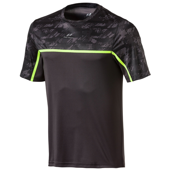 Pro Touch Rinito SS Mens Tee Black/Yell