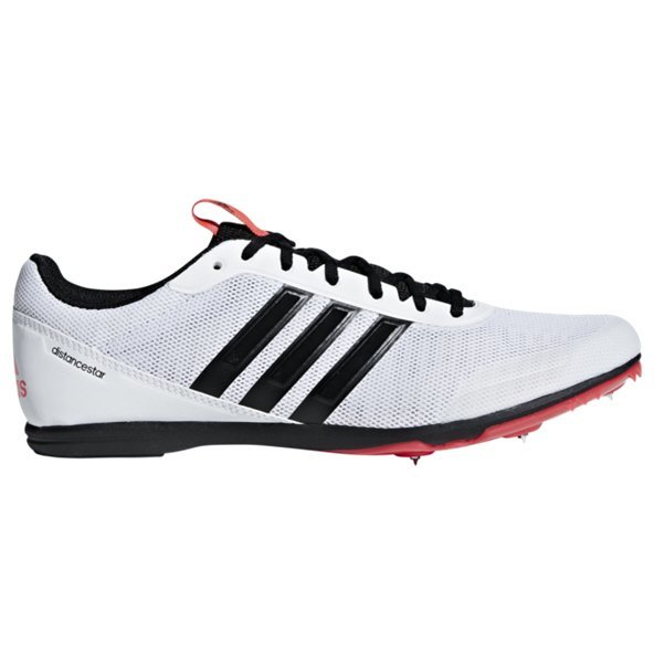 adidas Distancestar Men's Running Spikes, White