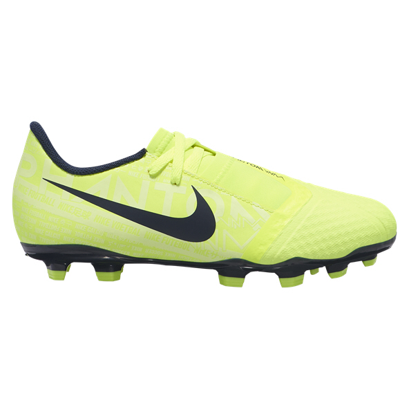 Nike Phantom Venom Academy Kids' FG Football Boot, Volt