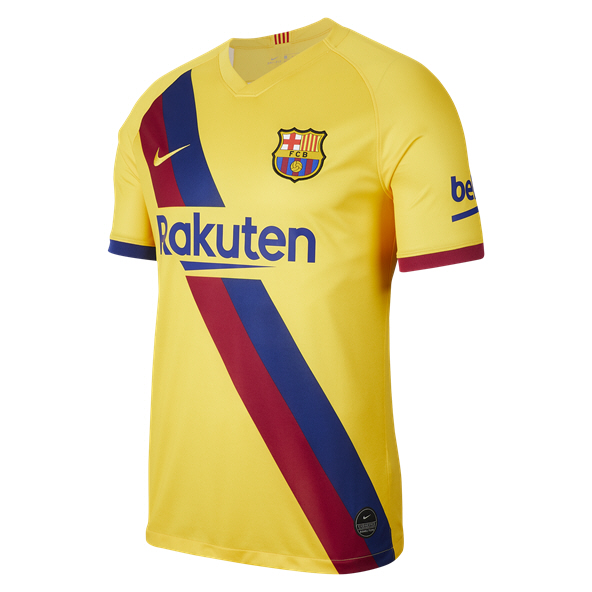 Nike FC Barcelona 2019/20 Away Jersey, Yellow