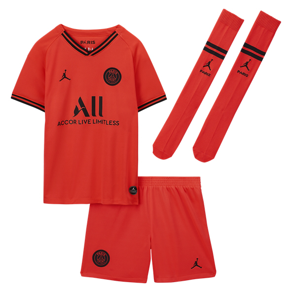 Nike PSG Away 19 Kids Kit Red