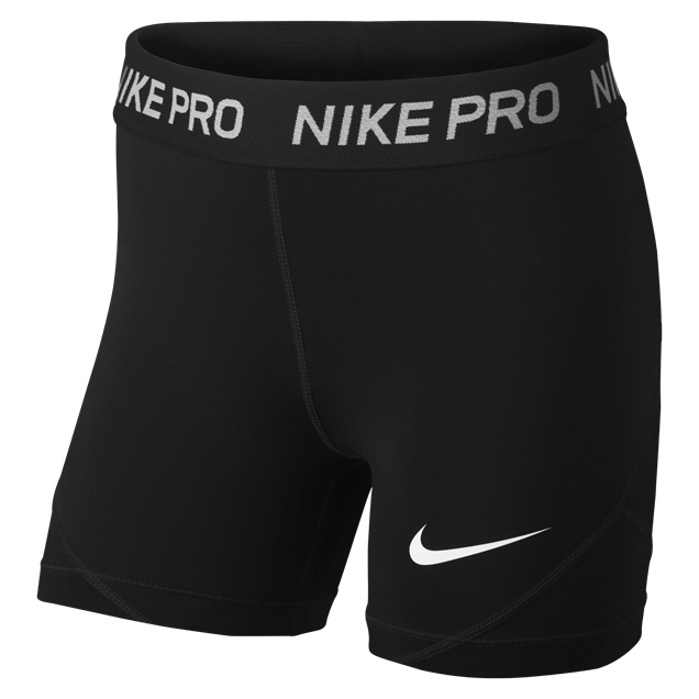 Nike PRO Girls Shorts Black