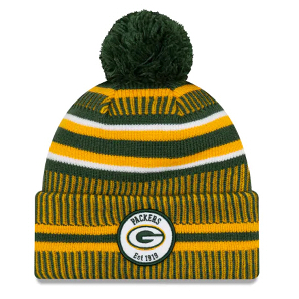 New Era Packers Onfield Hm Beanie Green