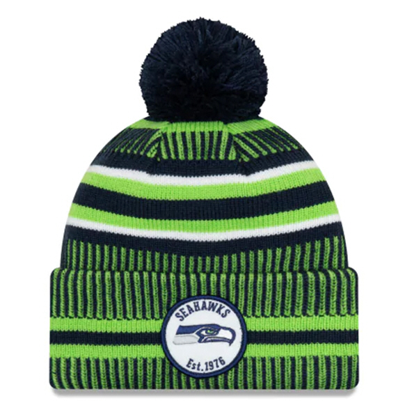 New Era Seahawks Onfield Hm Beanie Blue