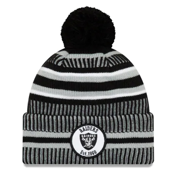 New Era Raiders Onfield Hm Beanie Black