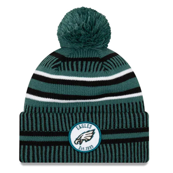 New Era Eagels Onfield Hm Beanie Green