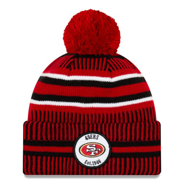New Era 49ers Onfield Hm Beanie Red