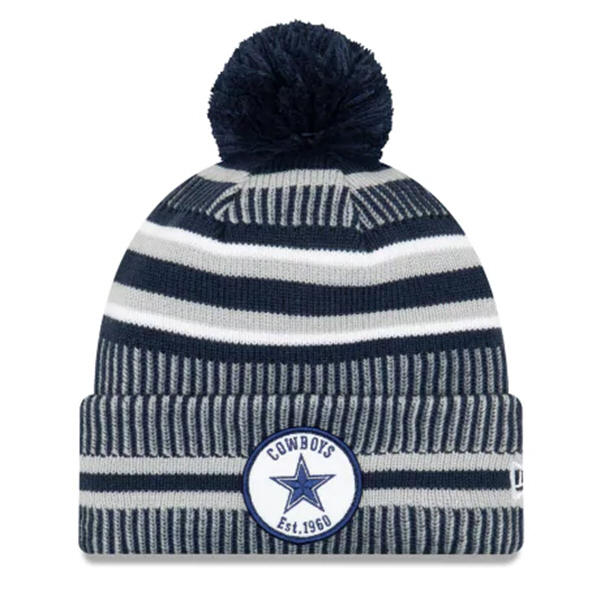 New Era Cowboys Onfield Hm Beanie Blue