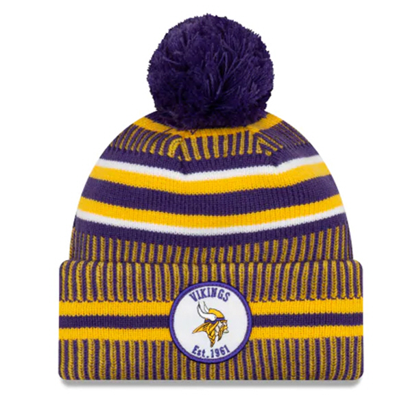 New Era Vikings Onfield Hm Beanie Purple