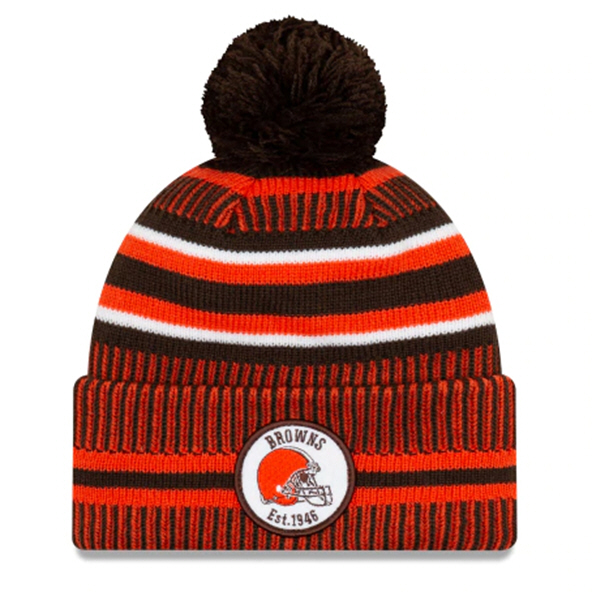 New Era Browns Onfield Hm Beanie Black