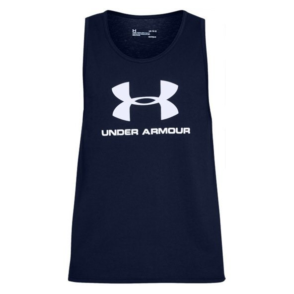 Under Armour® Sportstyle Logo Men's Tank, Navy