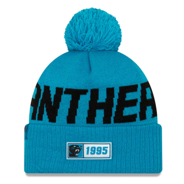 New Era Panthers Onfield Road Beanie Blu