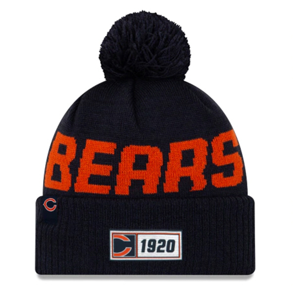 New Era Bears Onfield Road Beanie Navy