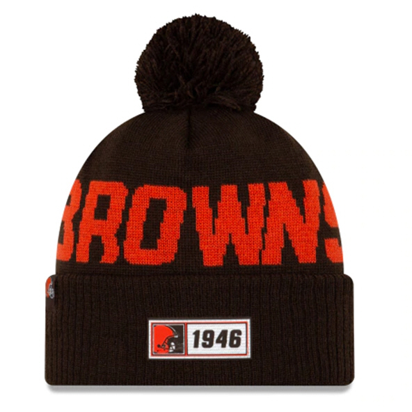 New Era Browns Onfield Road Beanie Brown