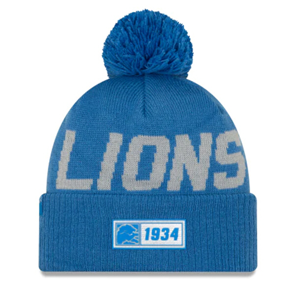 New Era Lions Onfield Road Beanie Blue