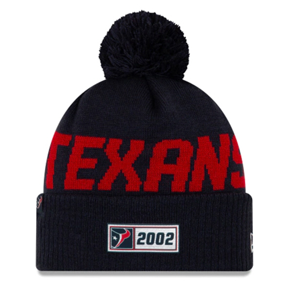 New Era Texans Onfield Road Beanie Navy