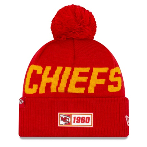New Era Chiefs Onfield Road Beanie Red