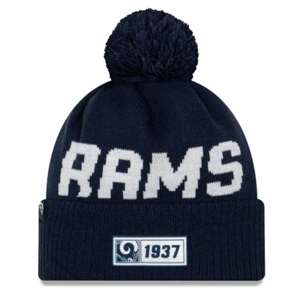 New Era Rams Onfield Road Beanie Blue