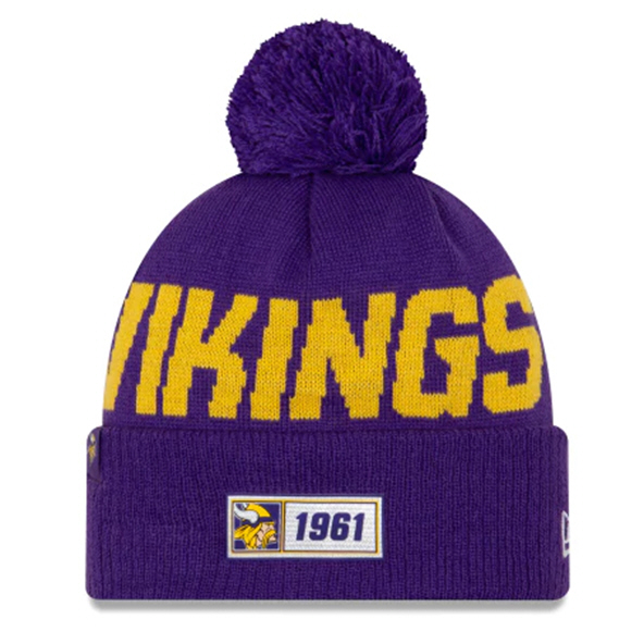 New Era Vikings Onfield Road Beanie Purp