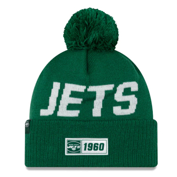 New Era Jets Onfield Road Beanie Green