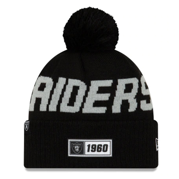 New Era Raiders Onfield Road Beanie Blk