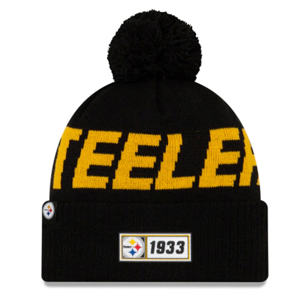 New Era Steelers Onfield Road Beanie Blk