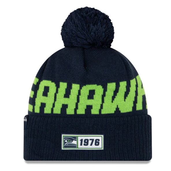 New Era Seahawks Onfield Road Beanie Blu
