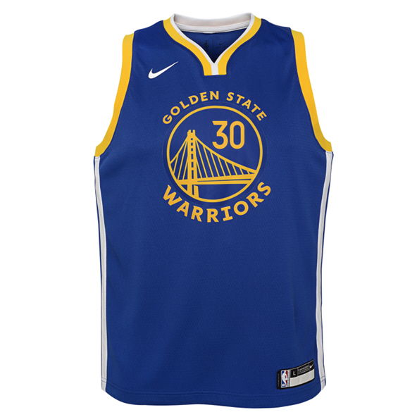 Nike Warriors 19 Curry Kids Jersey Blue