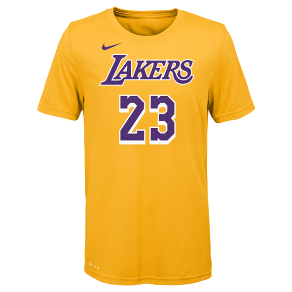 Nike Lakers James Kids Tee Yellow