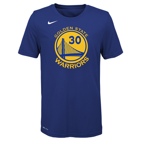 Nike Warriors Curry Kids Tee Blue