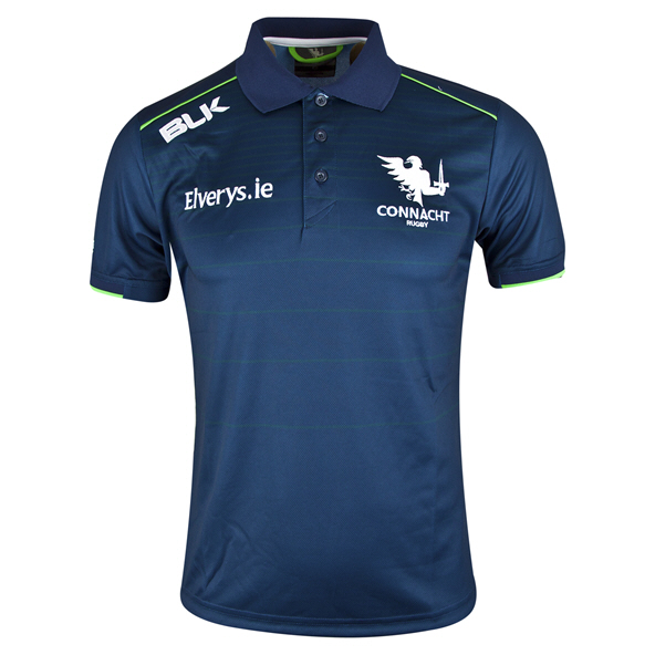 BLK Connacht 2019 Men's Performance Polo, Navy
