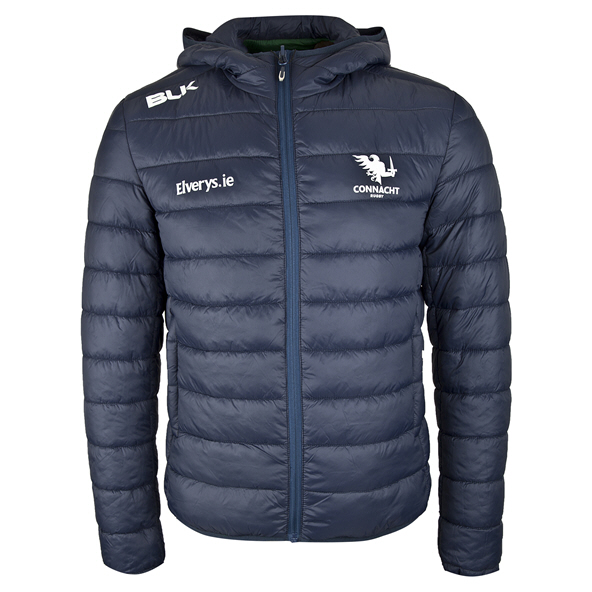 BLK Connacht 19 Hood Puffer Jacket Navy
