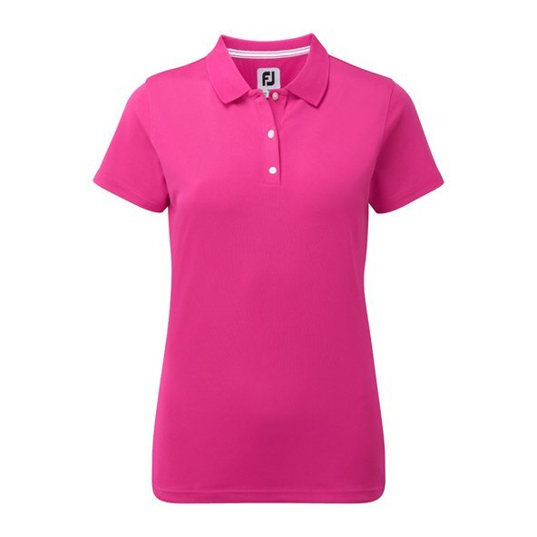 Footjoy Pique Solid Wmn Polo Berry