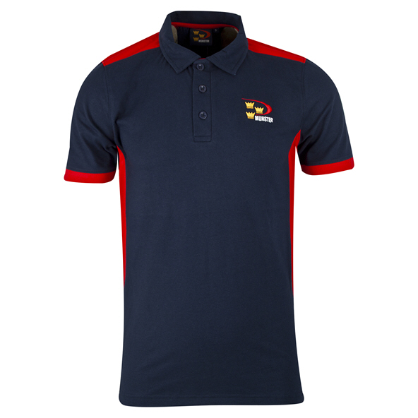 Tradcraft Munster Print Cott Polo Navy/R